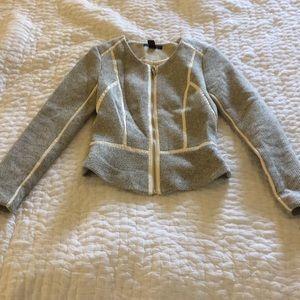 H&M Tweed/Leather Jacket